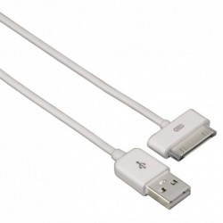 Hama USB Cable for Apple iPad, 30 pins, 1 m, white