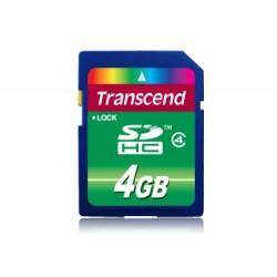 Transcend 4GB SDHC (Class 4) paměťová karta, modrá