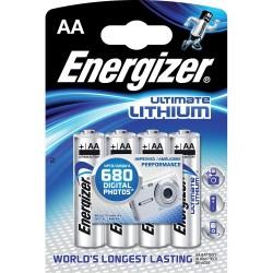 Tužkové baterie AA Energizer Ultimate Lithium 4ks
