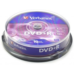 DVD+R 4,7GB 16x SPINDL (10pack)