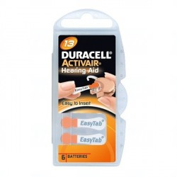 Baterie Duracell DA13, ZA13, 13A, DA13N, PR13, PR48, V13A, R13ZA, 1,45V, blistr 6 ks