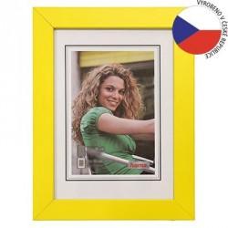 Hama rámeček dřevěný JESOLO, žlutá, 10x15cm
