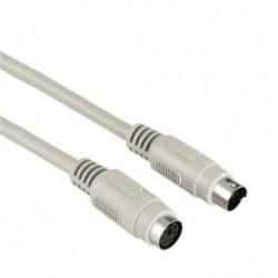 Hama prodlužovací kabel PS/2, mini-DIN 6pin, 2m, šedý