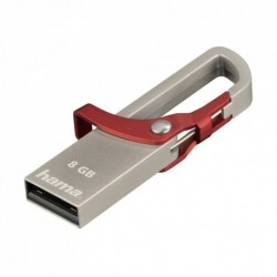 """Hama flashPen """"Hook-Style""""  8 GB 15 MB/s, červená"""