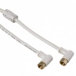 Hama SAT kabel F-vidlice - F-vidlice, 5 m, kolmé konektory 95 dB, 3*