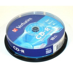 Verbatim  CD-R 700MB, 52x, 10ks