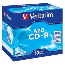 VERBATIM CD-R 80 52x CRYST. box 10pck