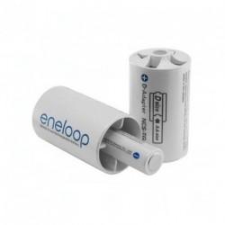 Adapter Panasonic Eneloop BQ-BS1E/2E, D size, blistr 2 ks