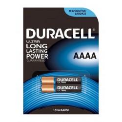 Baterie Duracell AAAA, MN2500, MX2500, GP25A, E96, LR8D425, V4004, LR8, LR61, 1,5V, blistr 2 ks
