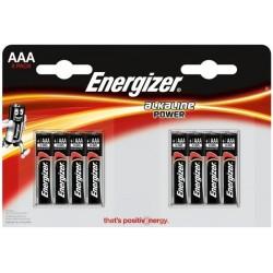 Baterie Energizer Alkaline Power AAA, LR03, mikrotužková, 1,5V, blistr 8 ks