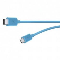 BELKIN MIXIT UP kabel USB C - MicroUSB, 1.8m, modrý