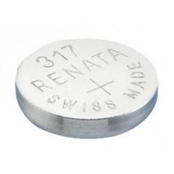 Baterie Renata 317, 516, V317, D317, SR62, SR516SW, 280-58, RW326, 1,55V, blistr 1 ks, silver oxide