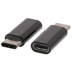 Valueline redukce microUSB B samice – USB-C samec