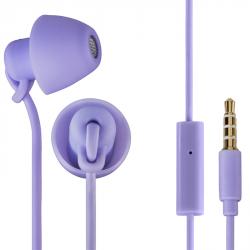 Thomson sluchátka s mikrofonem EAR3008 Piccolino, mini špunty, fialová