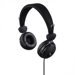 Hama on-ear sluchátka s mikrofonem Fun4Phone, černá