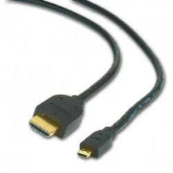 Kabel GEMBIRD HDMI-HDMI micro 1,8m, 1.3, M / M stíněný, zlacené kontakty, černý
