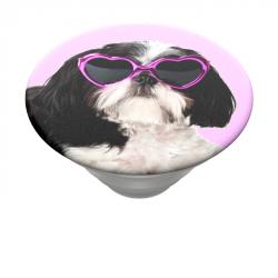 PopSockets PopTop Gen.2, Sassy Shih Tzu, shih tzu se slunečními brýlemi, výměnný vršek
