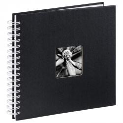 Hama album klasické spirálové FINE ART 28x24 cm, 50 stran, černá, bílé listy