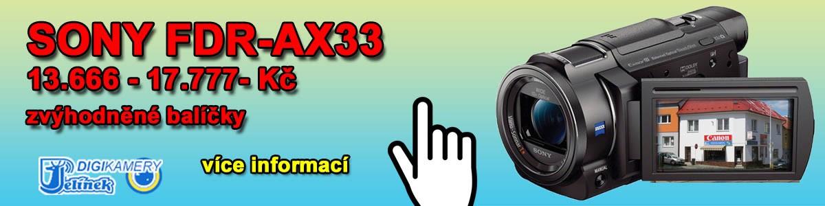 Jarní akce SONY FDR-AX33