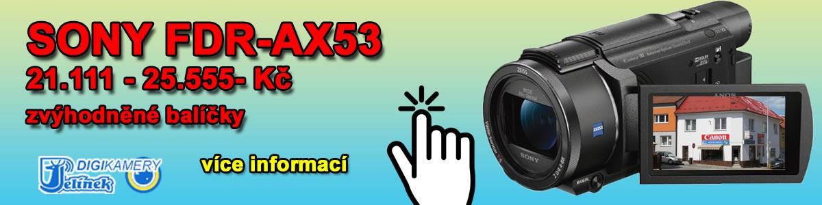 Jarní akce SONY FDR-AX53